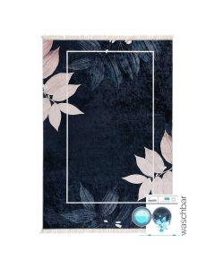 Antibakteriell Waschbarer Teppich in Schwarz Rosa Gold | MY5600