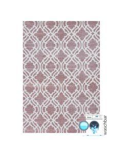 Antibakteriell Baumwolle Teppich Waschbar | Abstrakt Geo Rosa | MY6902