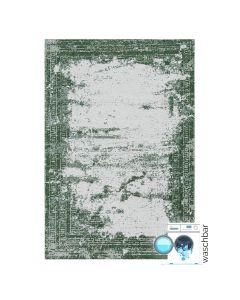 Antibakteriell Baumwolle Teppich Waschbar | Indigo Aztek Grün | MY6912