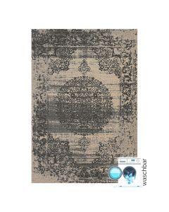 Antibakteriell Baumwolle Teppich Waschbar | Barock Antik Grau | MY6940