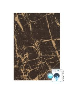 Antibakteriell Baumwolle Teppich Waschbar | Innovation Braun Gelb Look | MY6953