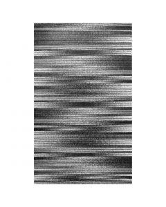 Kurzflor Teppich Schwarz Weiss | Linien Meliertes Muster MY7890
