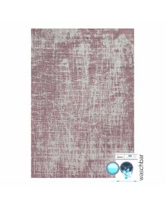 Waschbarer Teppich Baumwolle Young Pattern Rosa M6920