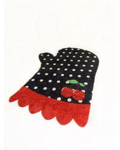 Antibakteriell Waschbarer Kinderteppich Schwarz| Koch Handschuh Design| MY4120
