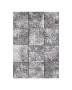 Moderner Kurzflor Teppich Grau Grün geometrisches Design 2903