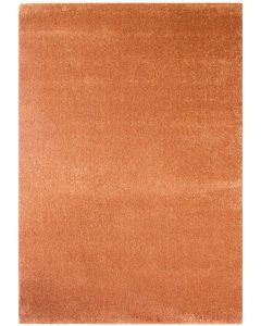 Hochwertiger Kurzflor Wohnzimmerteppich Kupfer Orange gepunktet M181O