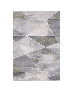 Moderner Kurzflor Teppich Grau Grün geometrisches Design 2901