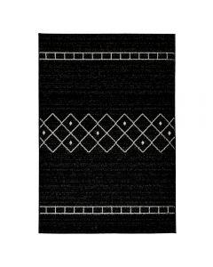 Teppich Kurzflor Schwarz | Trend Skandi Design MY1770