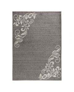 Teppich Kurzflor Grau | Floral Blumen Design MY1780