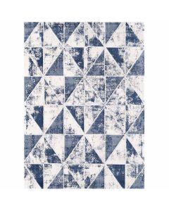Moderner Teppich mit weichem Flor in geometrischem Muster in Marine Navy Blau MY3212