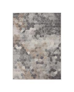Moderner Kurzflor Teppich Beige   Mozaik Steinmuster   MY3712V