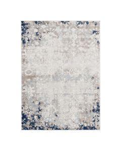 Vintage Teppich Kurzflor Blau   Used Look Skandi Style   MY3720