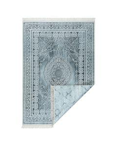 Waschbarer Teppich BEIDSEITIG verwendbar in Antrazit Grau Modern   Klassik MY210