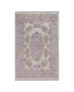 Designer Teppich Acryl Grau Violett Designer Medaillon 2505