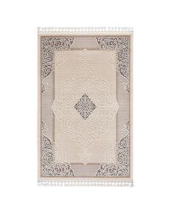 Moderner Designer Teppich Acryl in Beige Braun | 6826