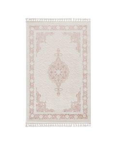 Moderner Designer Teppich Acryl in Weiß Rosa 6974