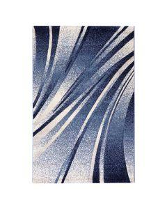 Teppich Kurzflor Blau | Design Geometrische Konturen MY7510