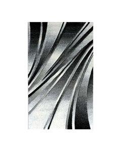Teppich Kurzflor Schwarz   Design Geometrische Konturen MY7510