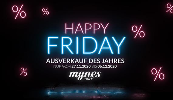 Happy Black Friday 27.11.2020 - 06.12.2020 Woche auf myneshome.de