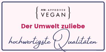 Vegan PETA approved - Der Umwelt zuliebe - hochwertigste Qualitäten bei Mynes Home