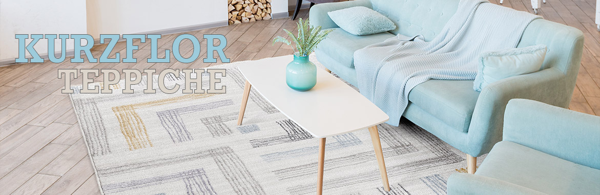 Kurzflor Teppiche online auf myneshome kaufen