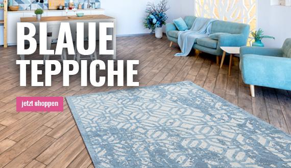 Blauen Teppich mobil auf myneshome bestellen