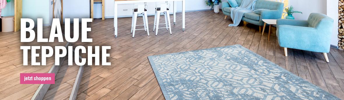 Blaue Teppiche online auf myneshome kaufen