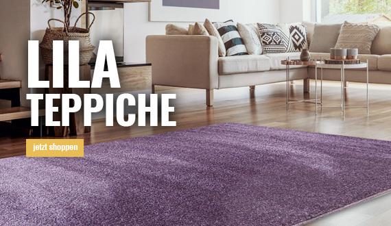 lila teppiche mobil bei myneshome bestellen