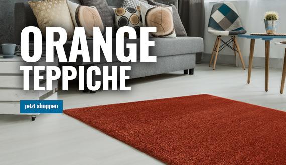 orange teppiche online von myneshome bestellen