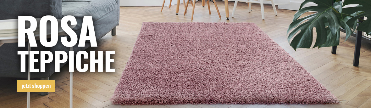 rosa teppiche online auf myneshome kaufen
