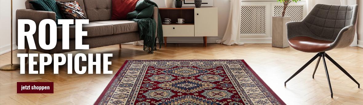 rote teppiche online auf myneshome kaufen