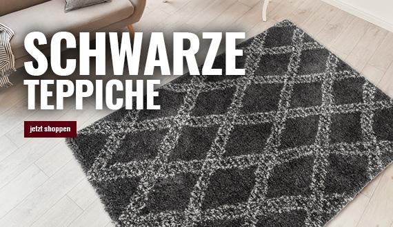 schwarze teppiche mobil auf myneshome bestellen