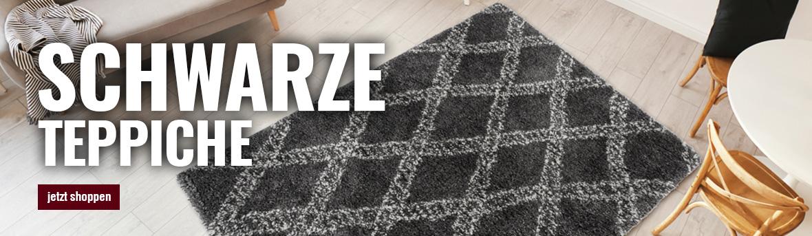 schwarzen teppich online von myneshome kaufen