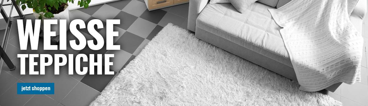 weissen teppich online von myneshome kaufen