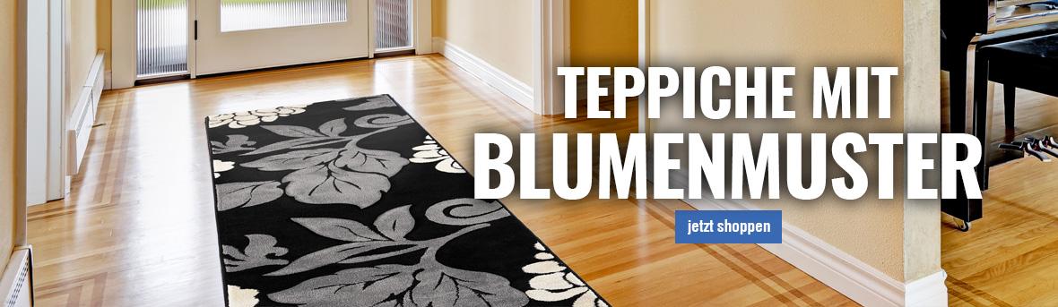 Teppich mit blumenmuster online auf myneshome kaufen