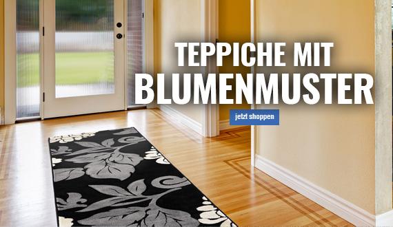 teppich mit blumenmotiv mobil online auf myneshome bestellen