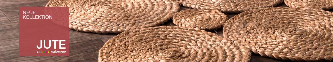Jute Teppiche handgeflochten finden Sie bei myneshome.de
