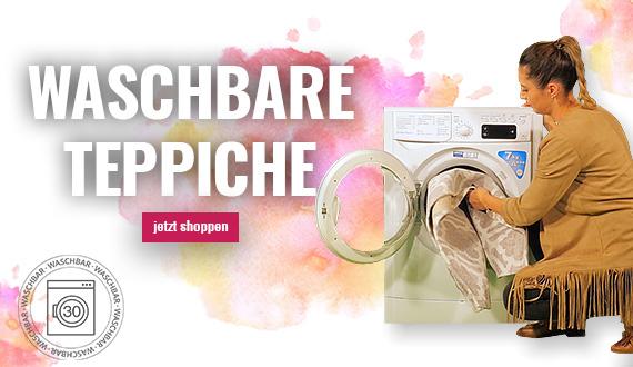 Waschbare Teppiche finden Sie bei myneshome.de